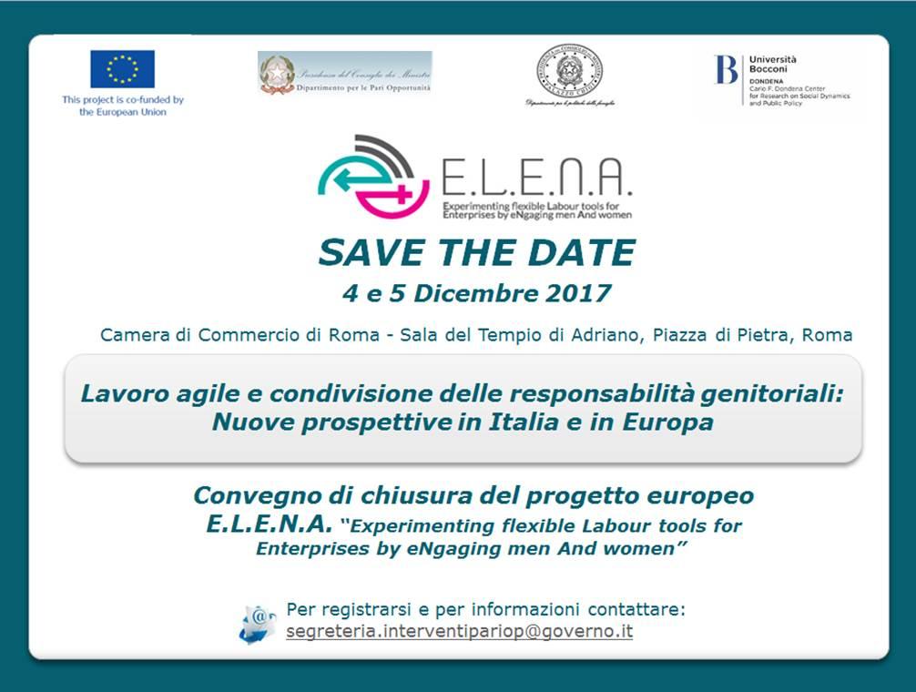 """Convegno internazionale """"Lavoro agile e condivisione delle responsabilità genitoriali: nuove prospettive in Italia e in Europa"""" – 4/5 dicembre2017"""