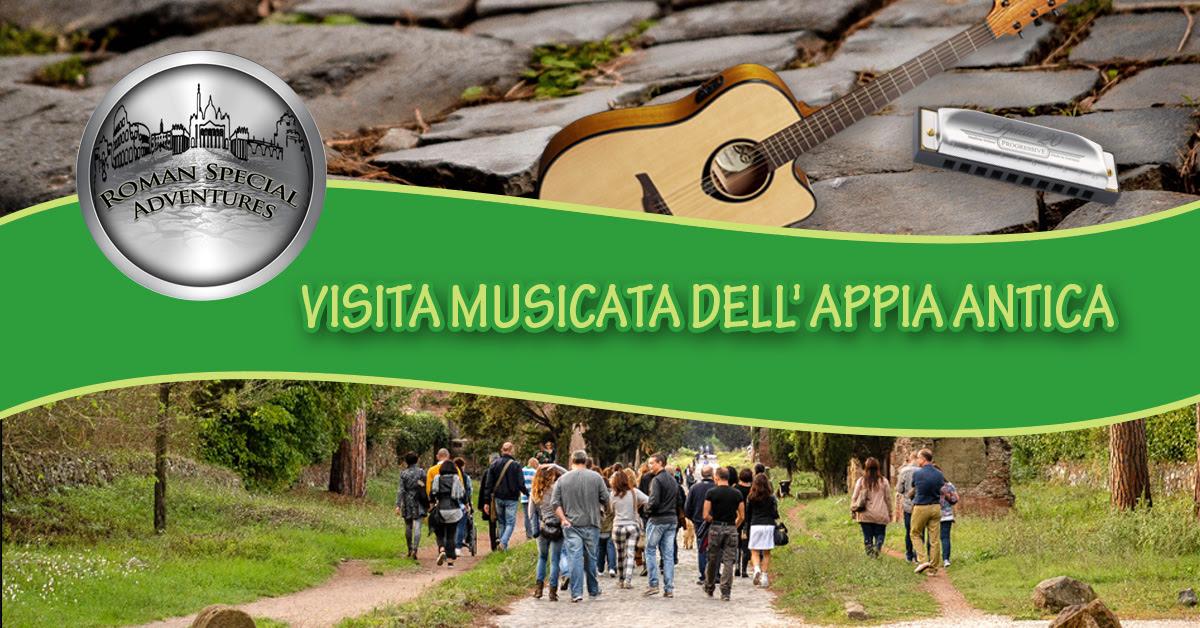 """ROMAN SPECIAL ADVENTURES: Visita musicata dell'Appia Antica. Domenica12 Novembre ore 11  l'Appia Antica come non l'avete mai """"sentita"""""""