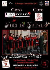 Latina – La magia del Natale all'Auditorium Vivaldi con il coro giovanileLavinium