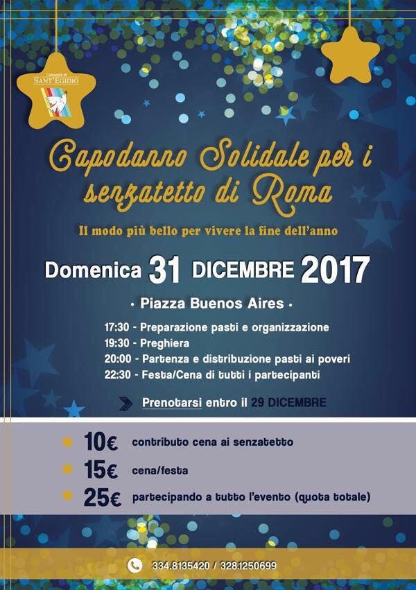 Capodanno Solidale per i senzatetto di Roma con i giovani della Comunità di Sant'Egidio – il modo più bello per vivere la finedell'anno