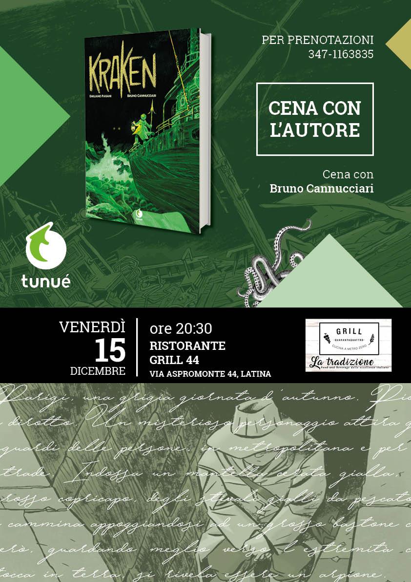 """Bruno Cannucciari  a Latina per presentare il suo libro a fumetti""""Kraken"""""""
