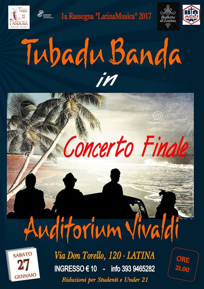 Arriva l'estate all'Auditorium Vivaldi con la BandaTubadu