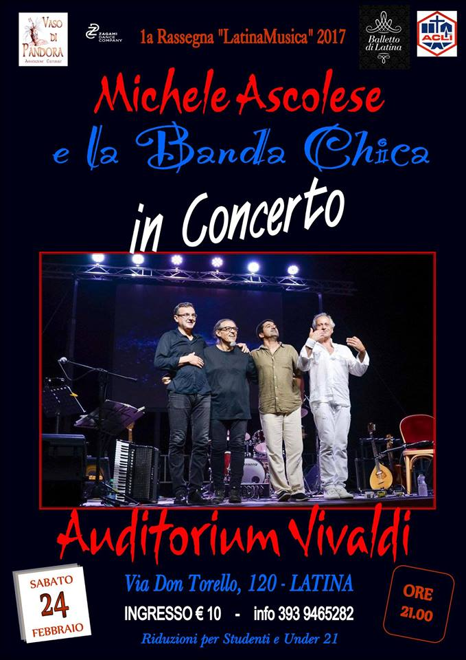 Michele Ascolese, storico chitarrista di Fabrizio de Andrè, all'auditoriumVivaldi