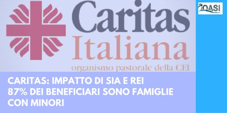 Il rapporto Caritas sui beneficiari di SIA e REI e i lororisultati