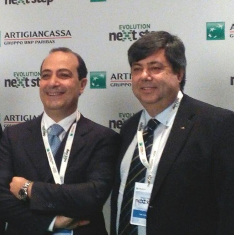 Ivan Simeone con il Direttore Generale Artigiancassa Spa Francesco Simone