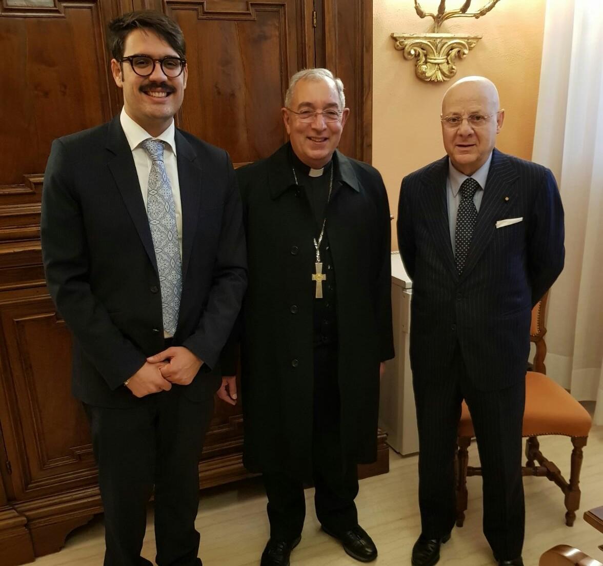 L'UCID incontra il Vicario generale del Papa monsignor Angelo DeDonatis