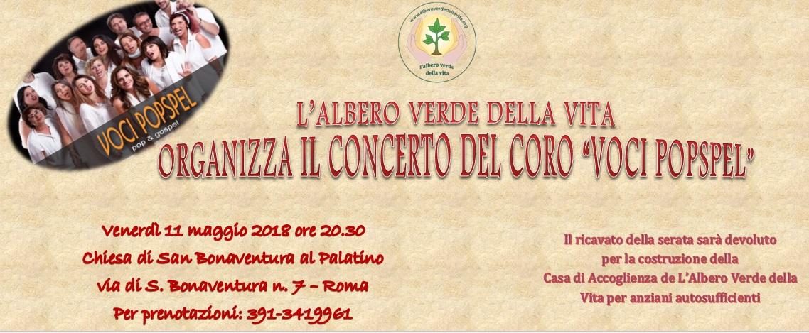 """L'Albero Verde della Vita ti invita al concerto del Coro """"VOCIPOPSPEL"""""""