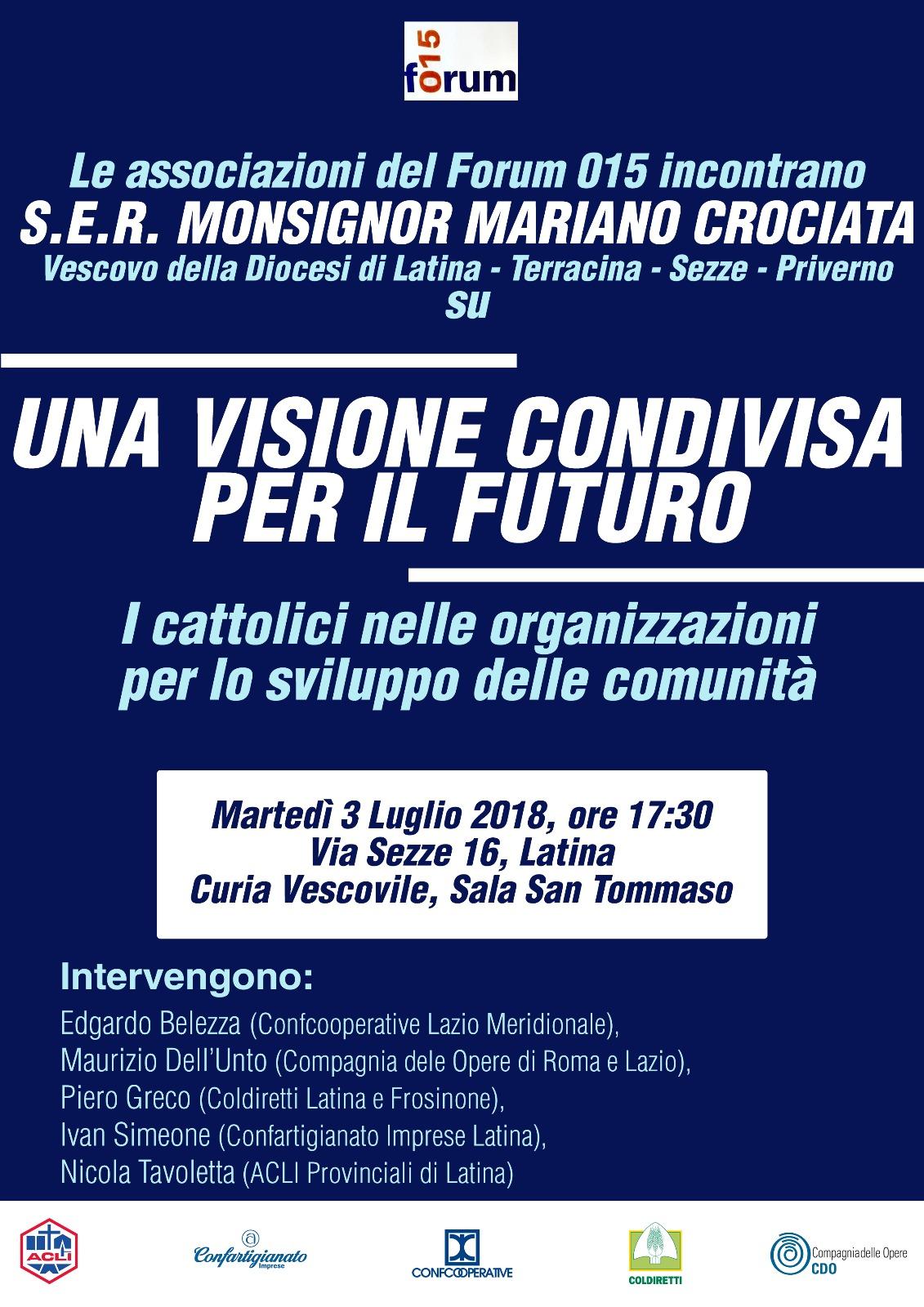 3 Luglio: il Forum 015 con il Vescovo per un futurocondiviso