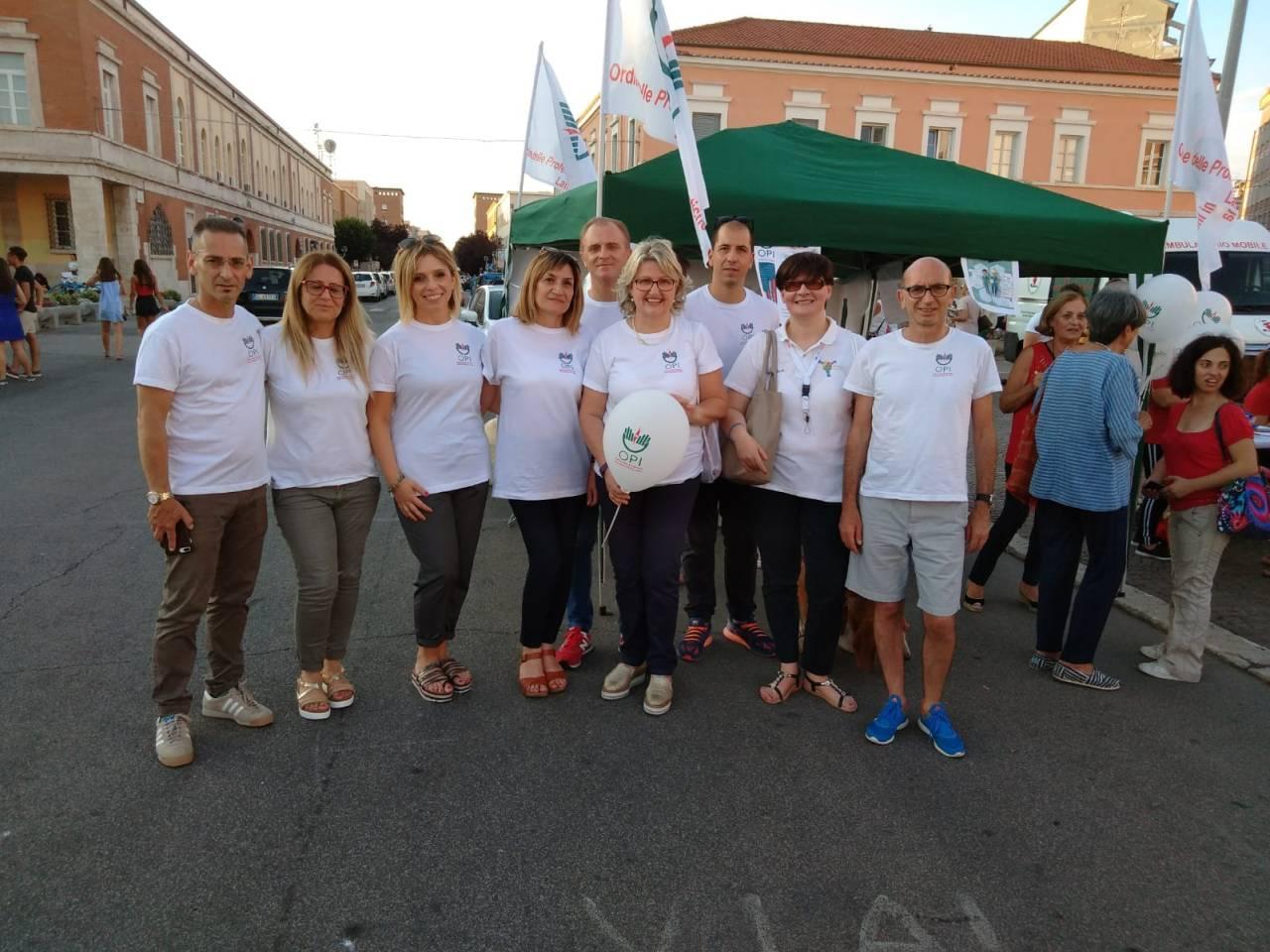 Gli infermieri di Latina in Piazza per dare  informazioni e utili consigli aicittadini