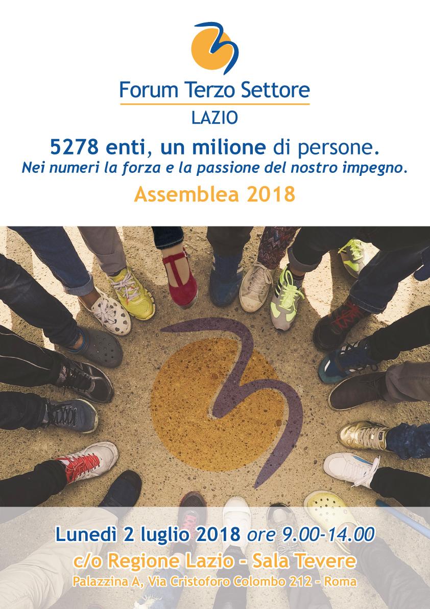 """Oggi 2 luglio Assemblea 2018 del Forum Terzo Settore Lazio, """"alzare livello qualità della vita nostre comunità, riaffermazione azione e interventi a tutto campo specie in aree terremotate"""""""
