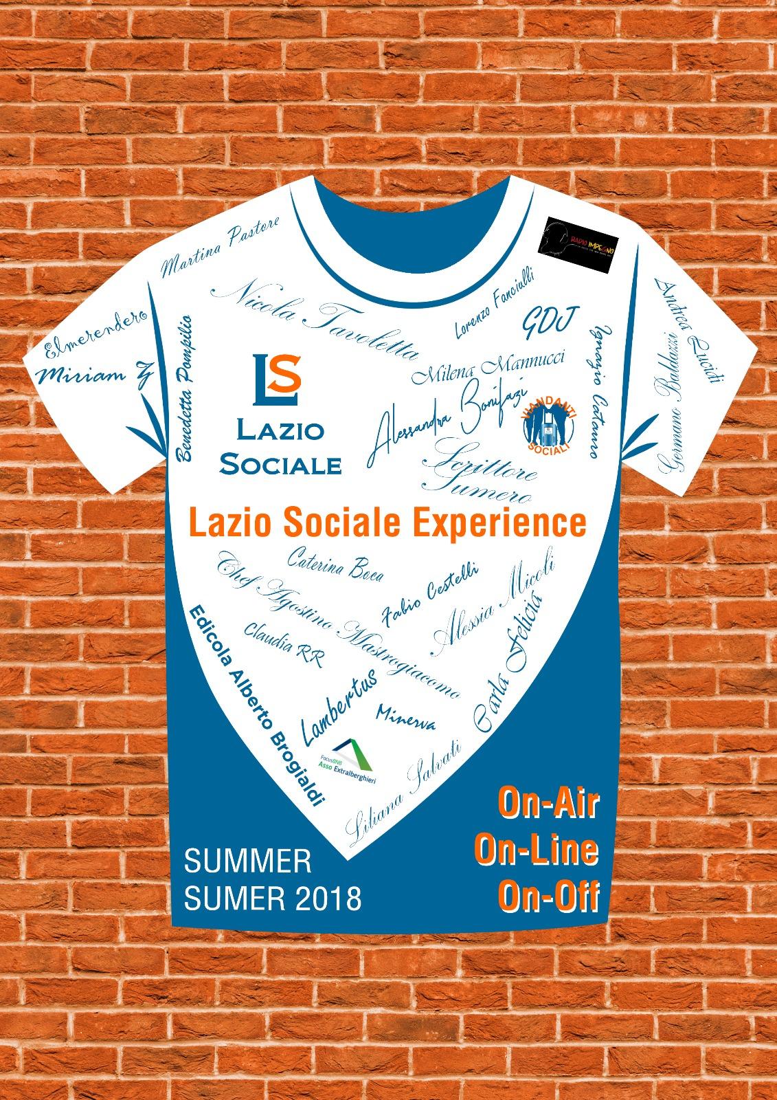 LAZIO SOCIALE: SUMMER SUMER2018