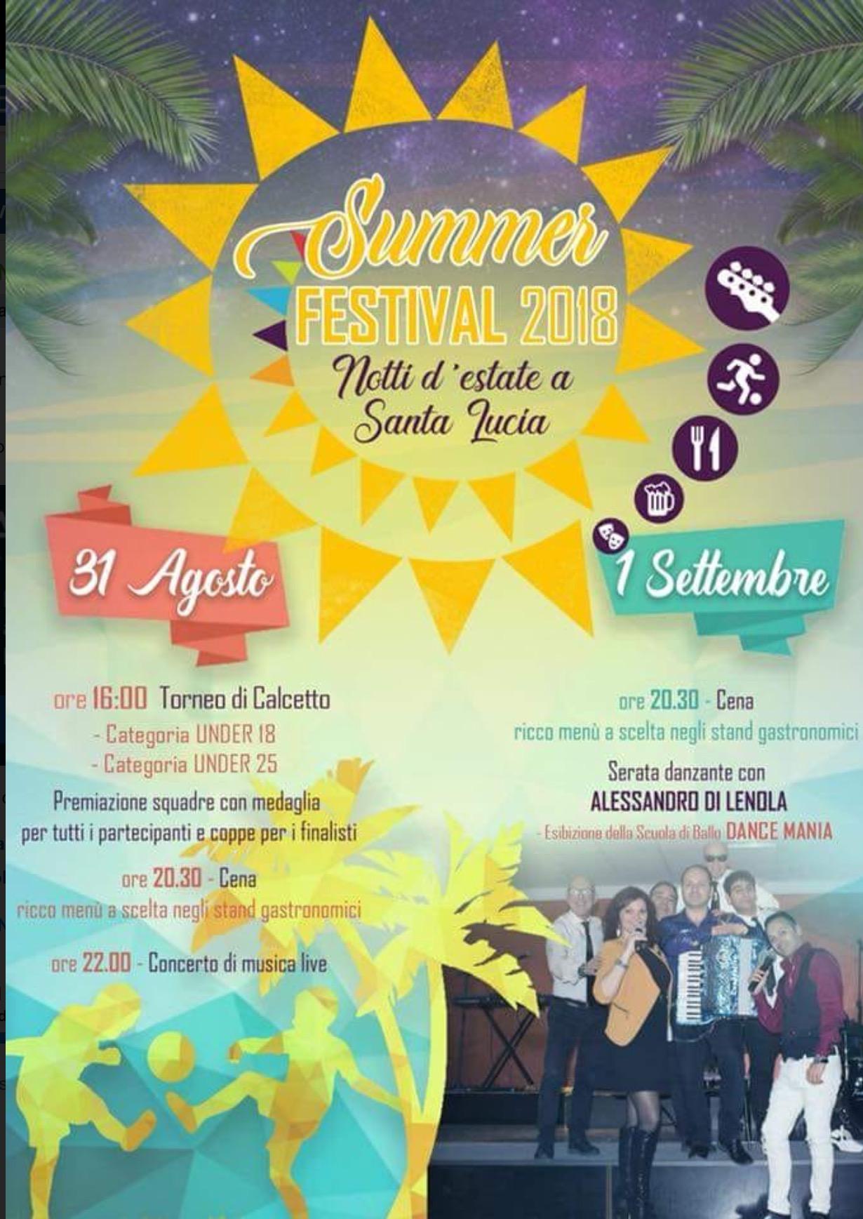 SUMMER FESTIVAL 2018: Notti d'estate a Santa Lucia,Sezze
