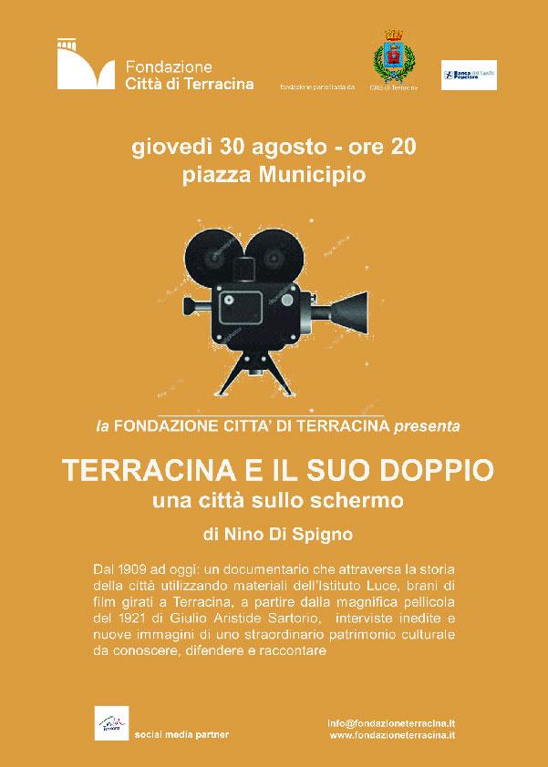 """""""Terracina e il suo doppio"""", film documento – Giovedì 30agosto"""
