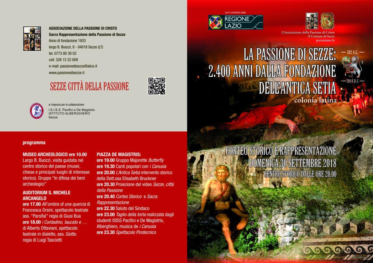2400 ANNI DALLA FONDAZIONE DELL'ANTICA SETIA COLONIA LATINA: FESTA NEL CENTRO DISEZZE
