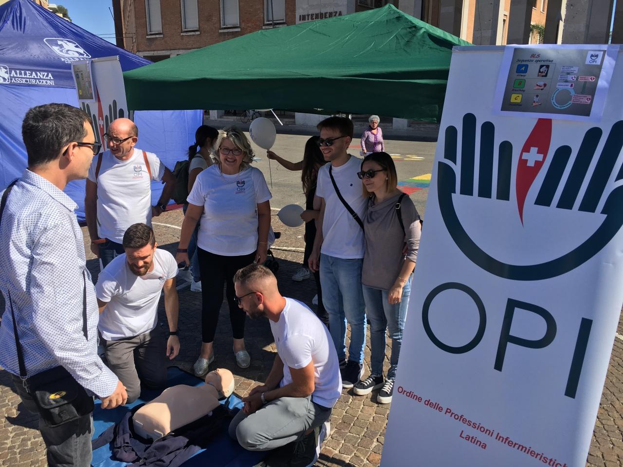 Giornata nazionale per la prevenzione cardiologica: gli infermieri di Latina in piazza per dare informazioni aicittadini