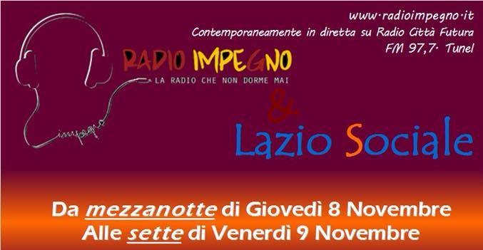 Da mezzanotte Lazio Sociale a RadioImpegno!
