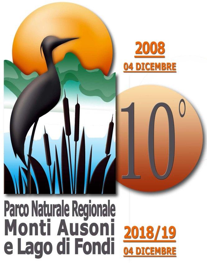 logo parco ausoni per decennale 2018 2019 14 cm