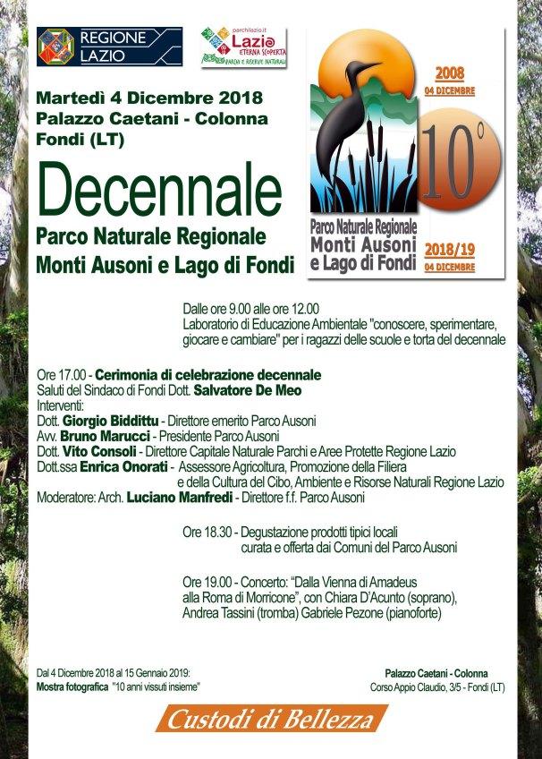 Manifesto decennale Parco Ausoni A4