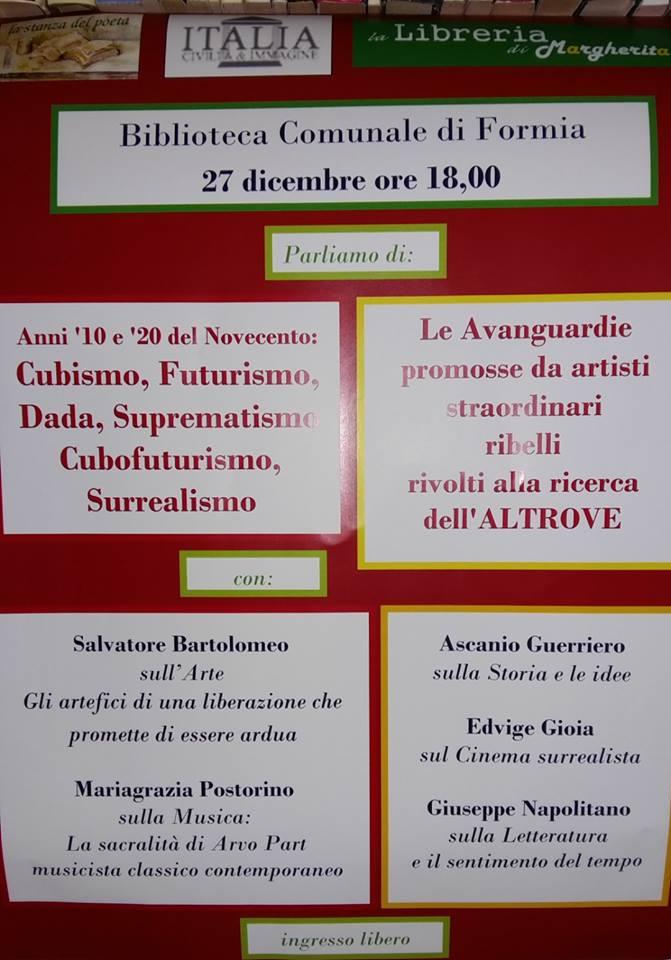 Incontro sulle AVANGUARDIE : Cubismo, Futurismo, Dada, Suprematismo Cubofuturismo,Surrealismo