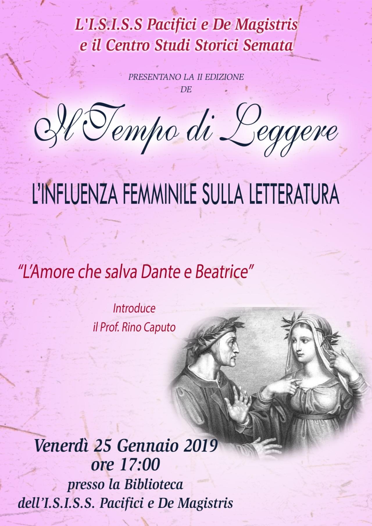 A SCUOLA DI POESIA: IL PROF. RINO CAPUTO PARLA AGLI STUDENTI DELL'INFLUENZA FEMMINILE SULLALETTERATURA