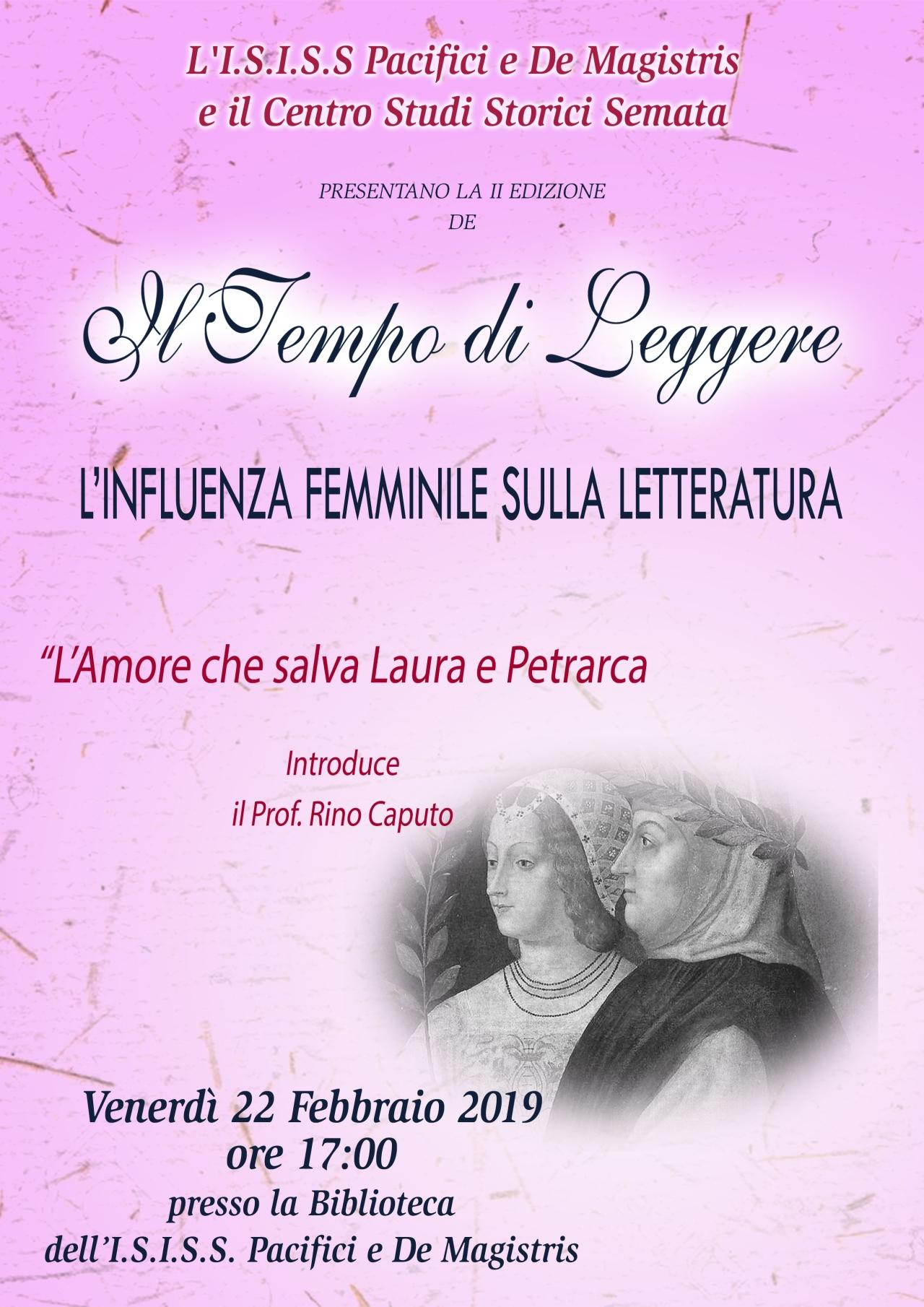 """A scuola di Poesia: """"L'influenza femminile sulla letteratura"""", conferenza del prof. RinoCaputo"""""""