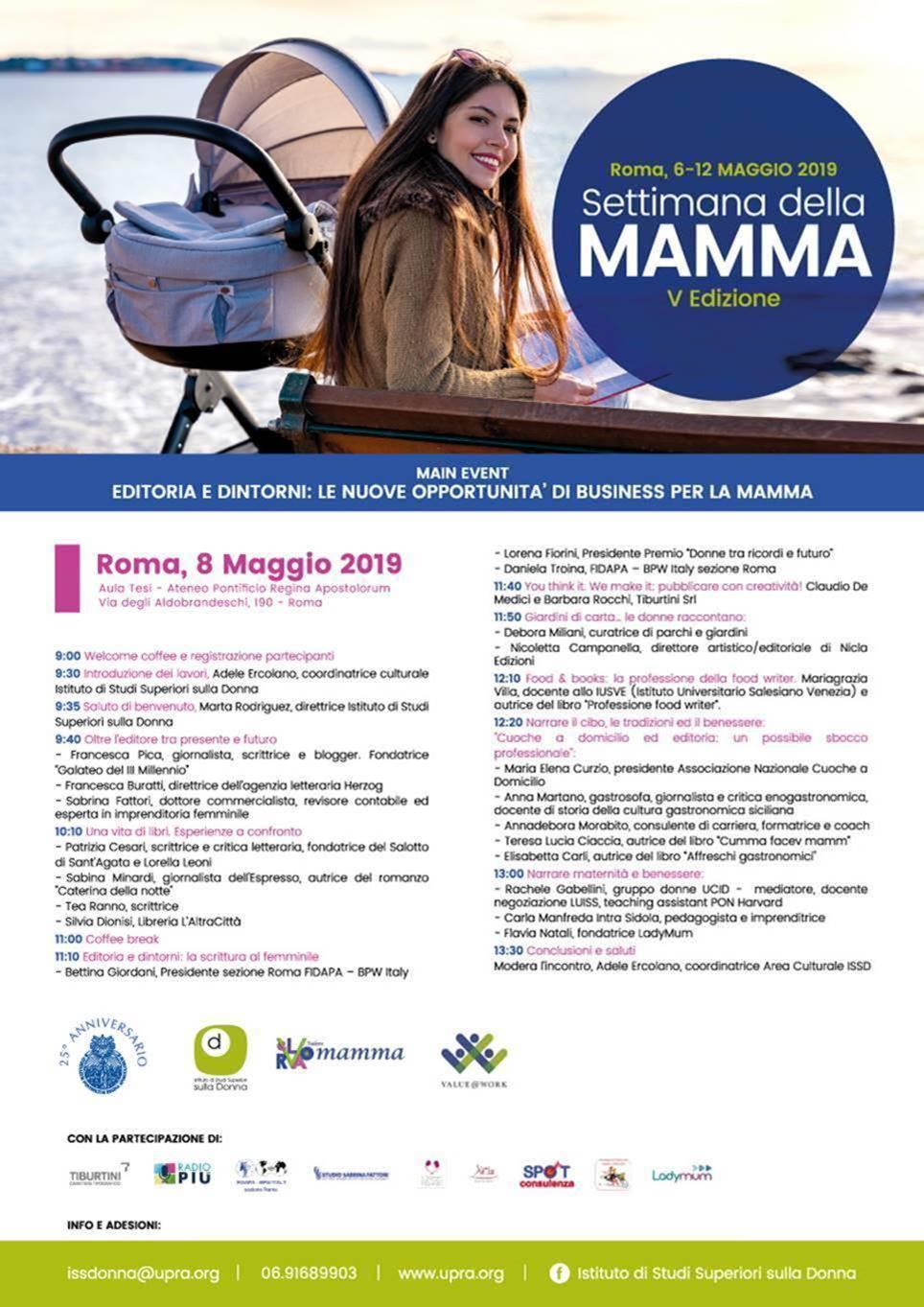 Dal6 a 12 maggioa Roma la V edizione dellaSettimana dellaMamma.
