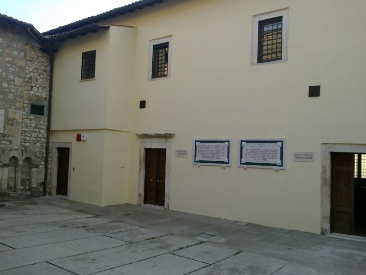 museo arte sacra Sezze-ingresso