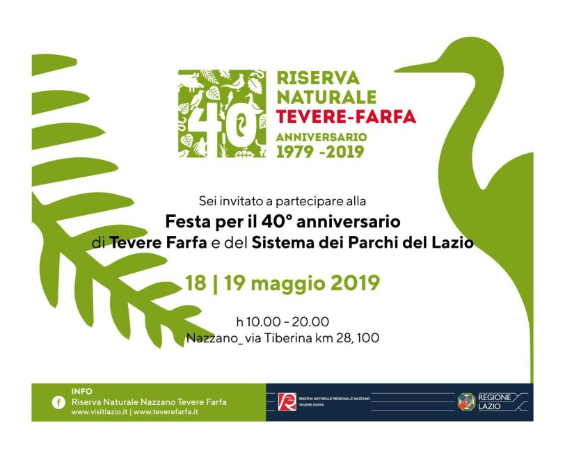 40 anni della Riserva Naturale Tevere Farfa - Invito