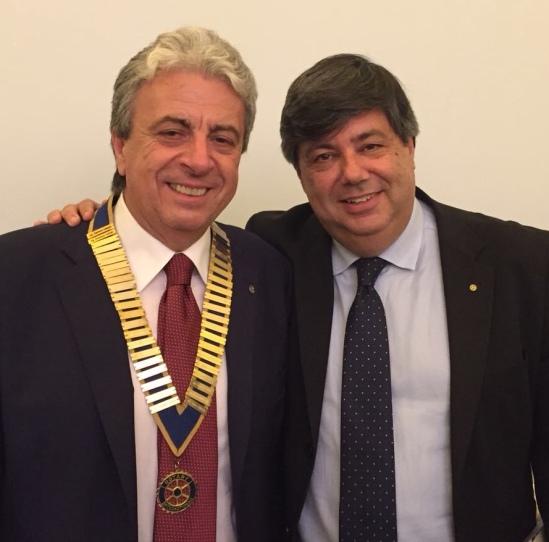 Ivan Simeone (Presidente Rotary Club Latina) con il Presidente del Club Giuseppe Bonifazi