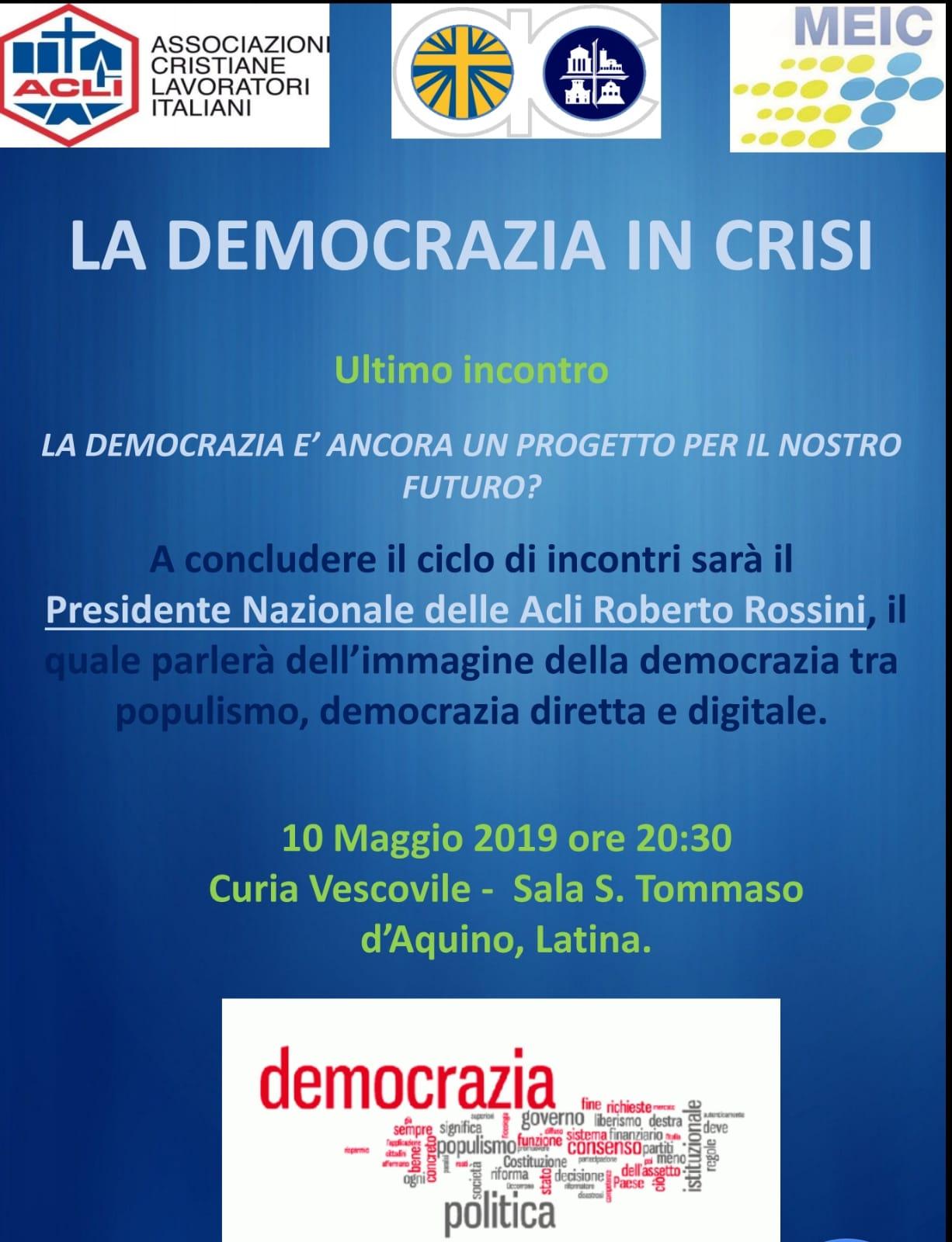 Venerdi a Latina il Presidente nazionale delle Acli sullo stato dellademocrazia