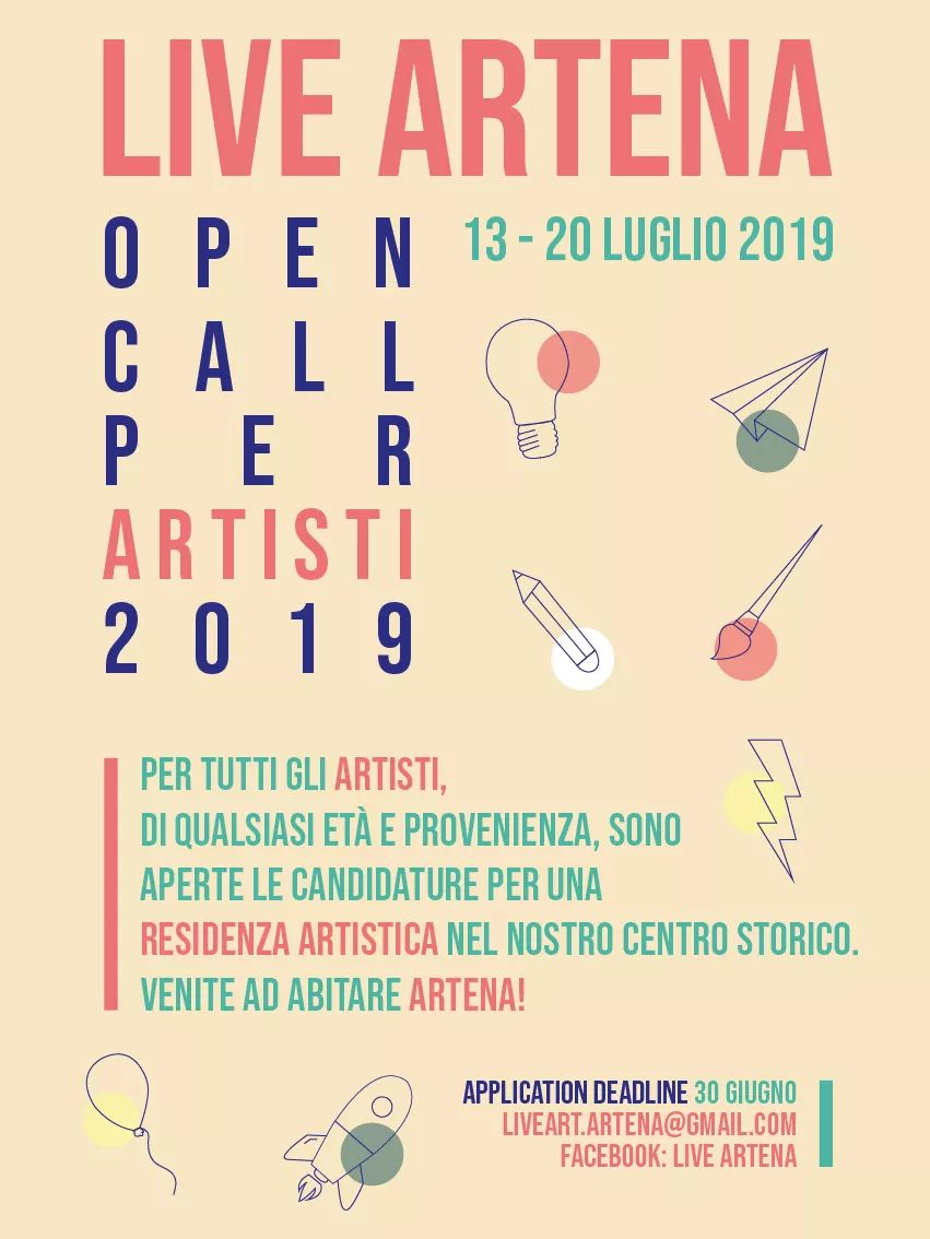 Live Artena, open call per artisti2019