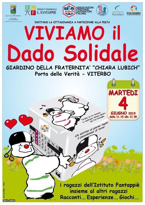 """""""Viviamo il Dado Solidale"""", domani 4  giugno aViterbo"""