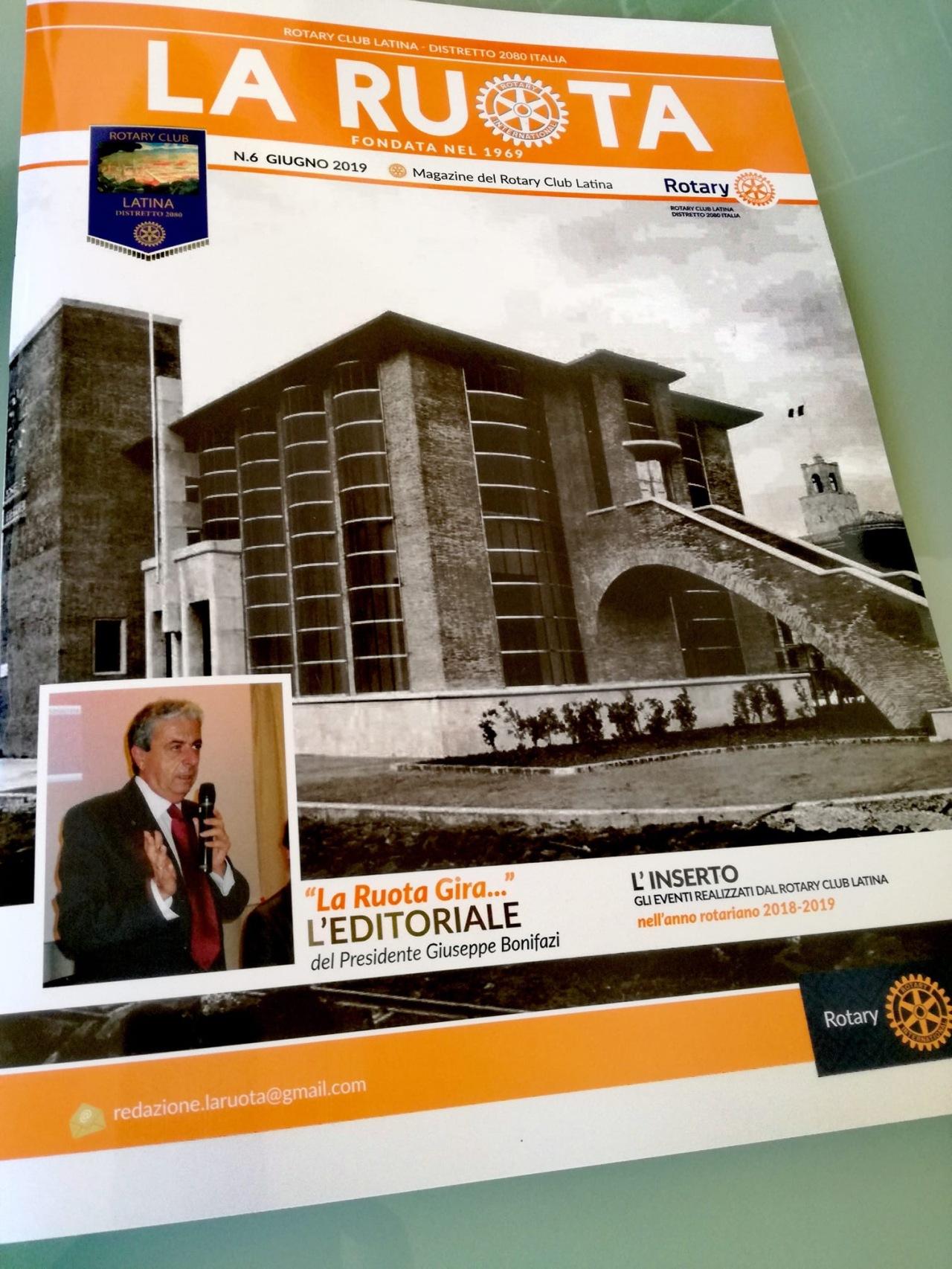 """Pubblicato il nuovo numero de """"La Ruota"""" Il magazine del Rotary ClubLatina."""