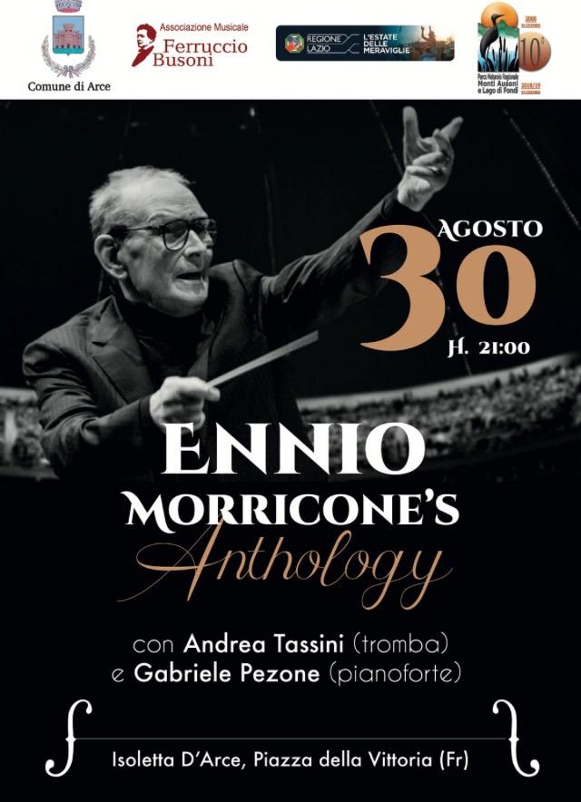 """Concerto """"ENNIO MORRICONE's Anthology"""" a Isoletta d'Arce (FR), con Andrea Tassini, alla tromba, e Gabriele Pezone, alpianoforte"""