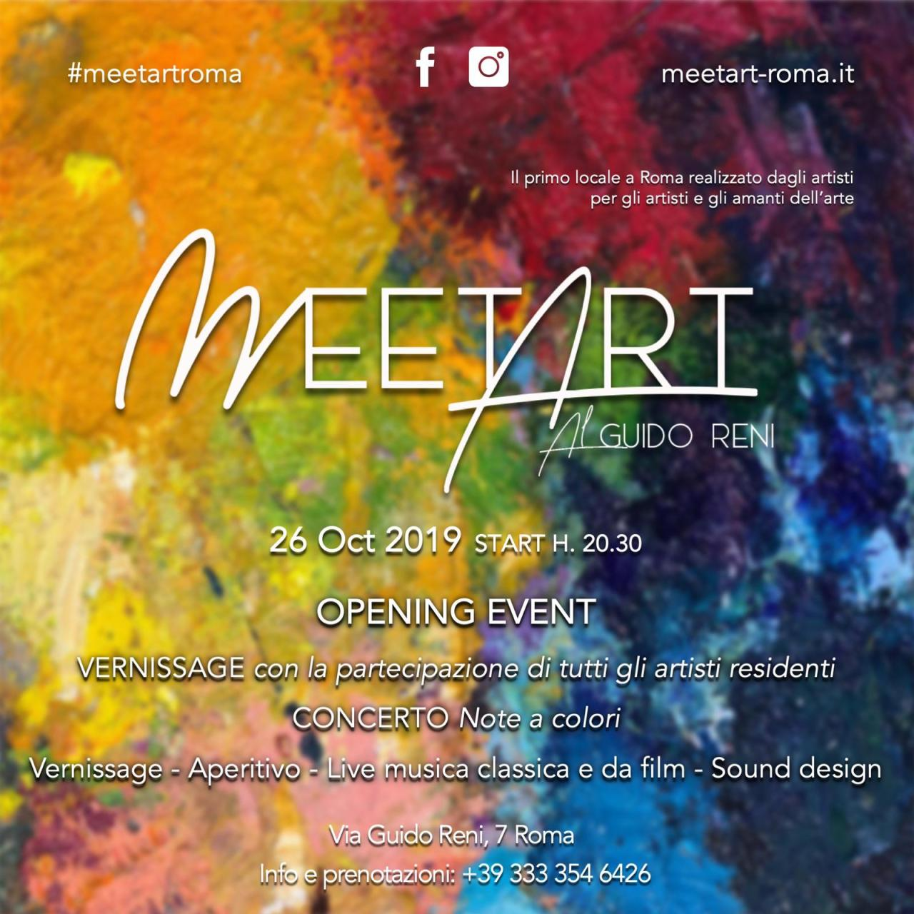 MeetArt al Guido Reni, a Roma, sabato 26 ottobre ore20.30