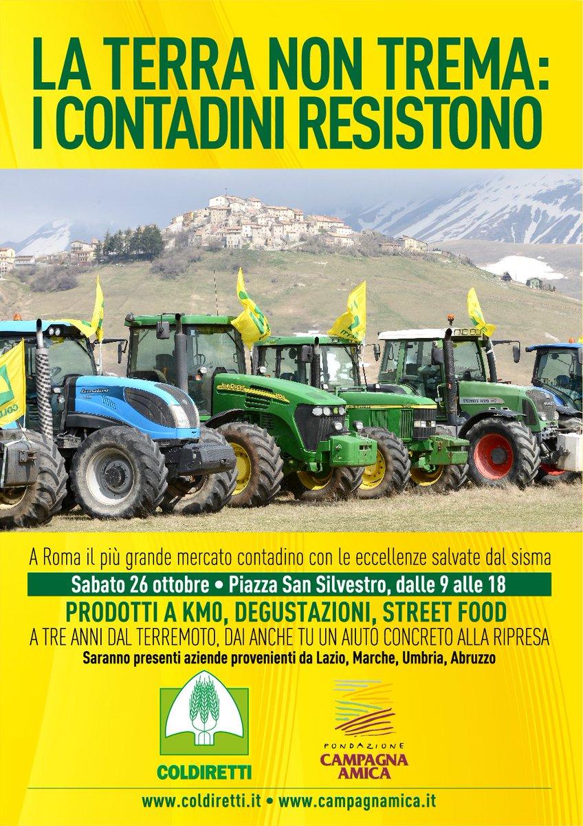Terremoto: Coldiretti,il 26/10 agricoltori e pastori in piazza aRoma