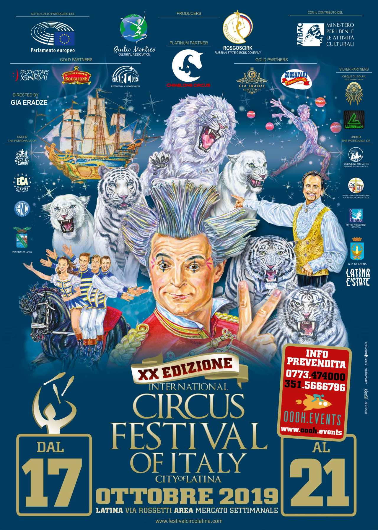 International Circus Festival of Italy 20thANNIVERSARY SPECIAL EDITION –Latina, dal 17 al 21 Ottobre2019