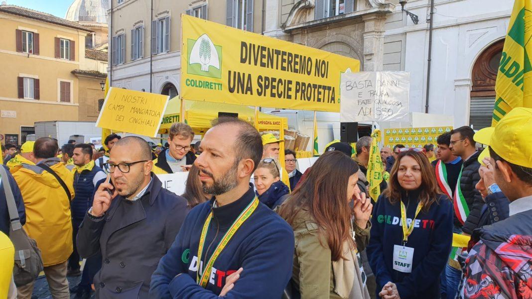 LPN-Coldiretti: Allarme cinghiali, in migliaia a manifestazione aMontecitorio