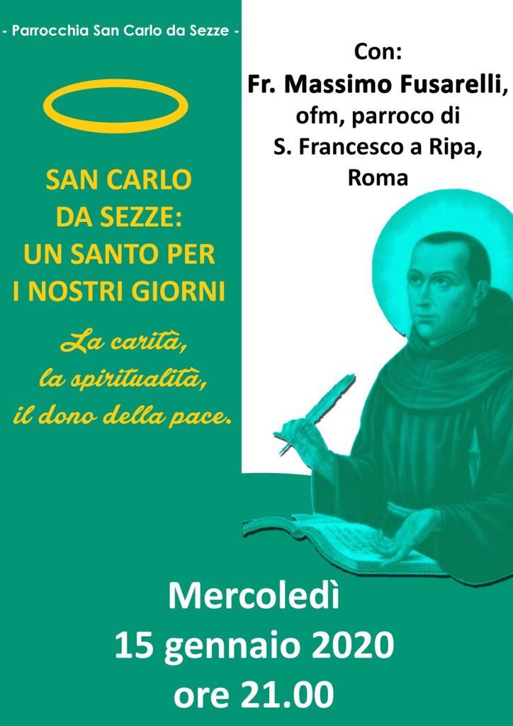 Evento Sezze Scalo. San Carlo da Sezze: un santo per i nostrigiorni.