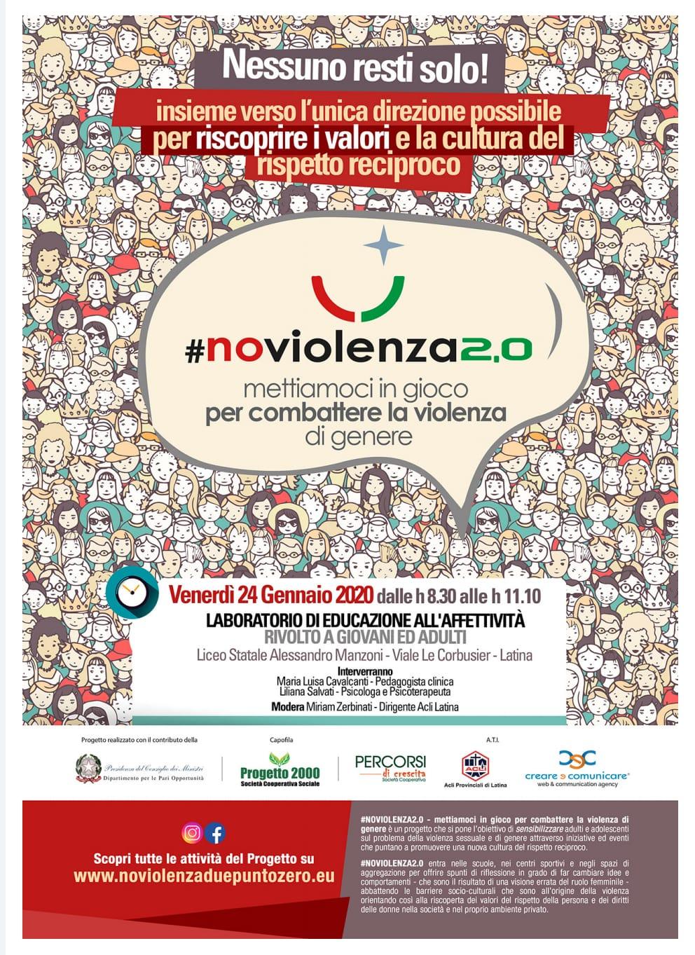 #NoViolenza2.0 : Le Acli sensibilizzanoancora.