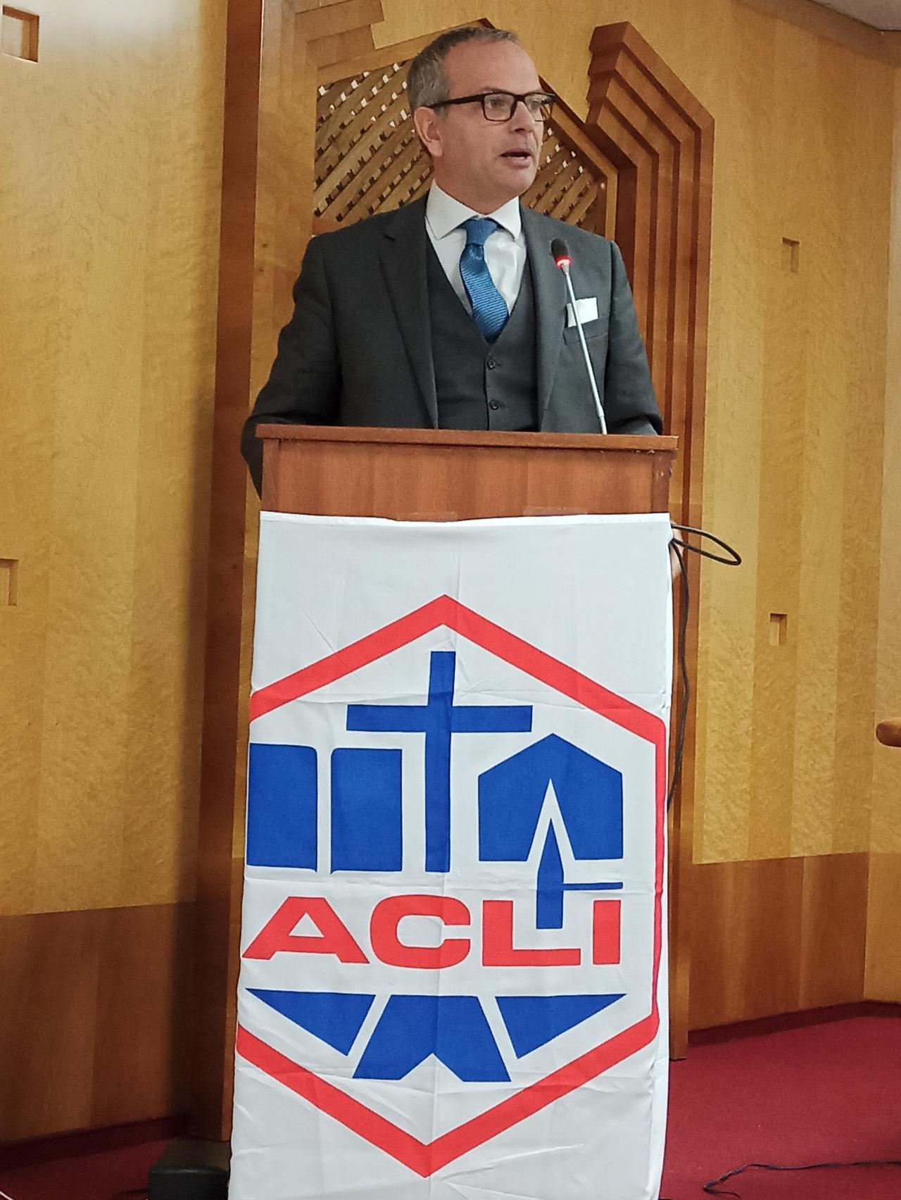XVII° Congresso Acli Latina: Vincenzo Bassi (Federazione delle Associazioni Familiari Cattoliche inEuropa)