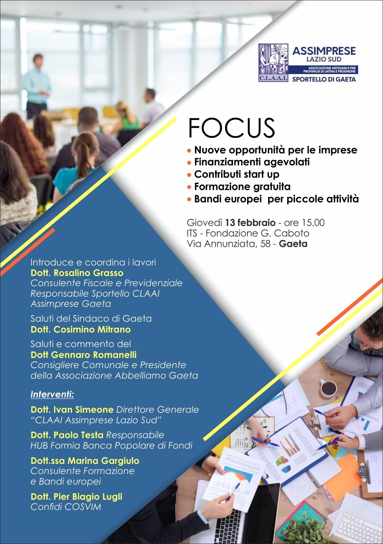 INVITO Presentazione Sportello CLAAI Assimprese Gaeta 13 febbraio 2020
