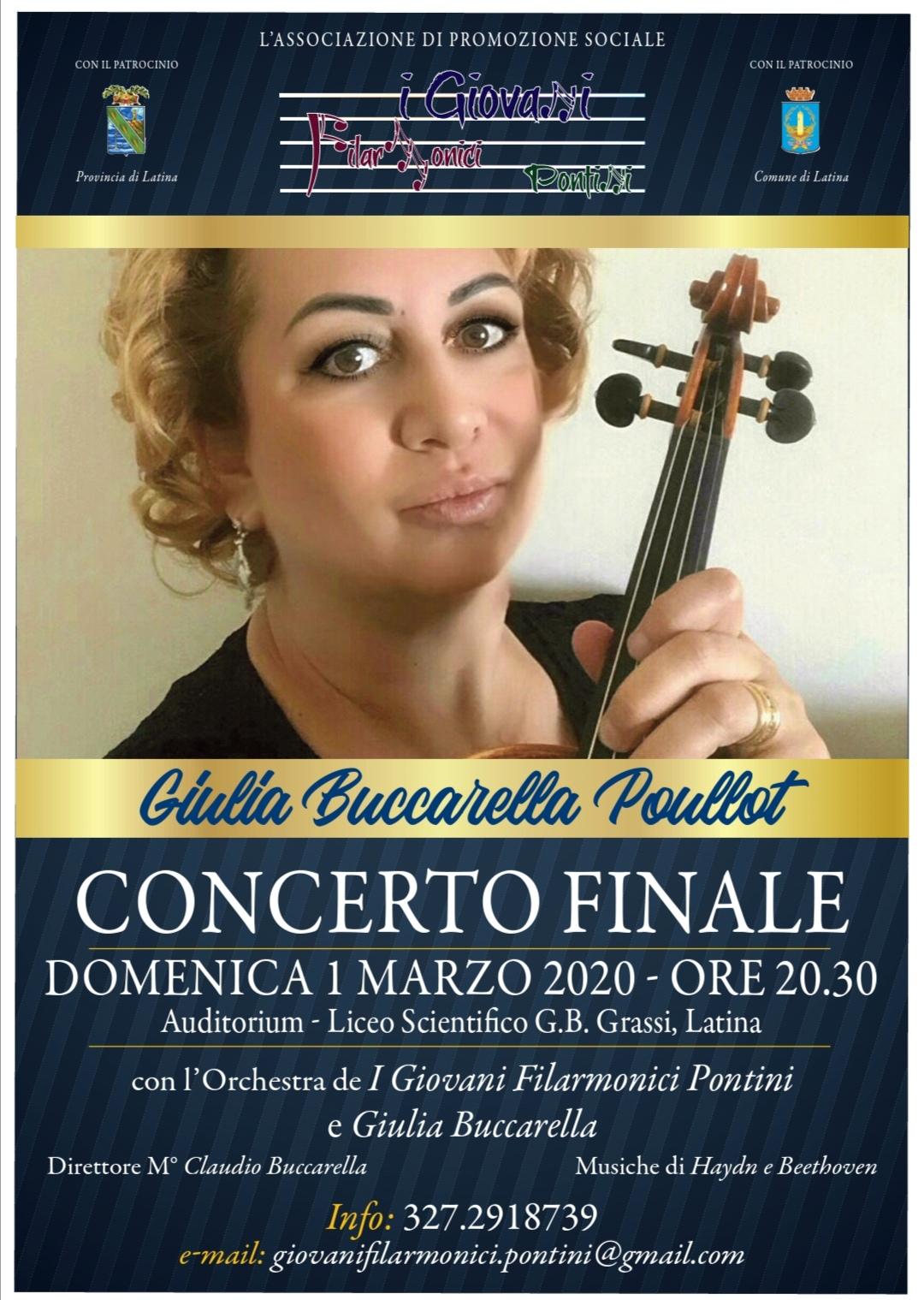 Giulia Buccarella Poullot in Concerto aLatina