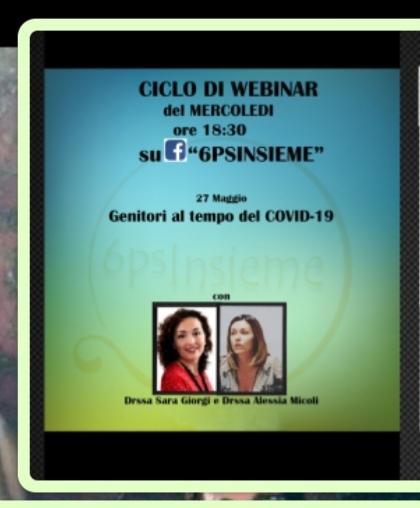 """Webinar """"genitori e coronavirus"""", Dr. ssa Sara Giorgi, Dr. ssa Alessia Micoli Psicologhe""""6psinsieme"""""""