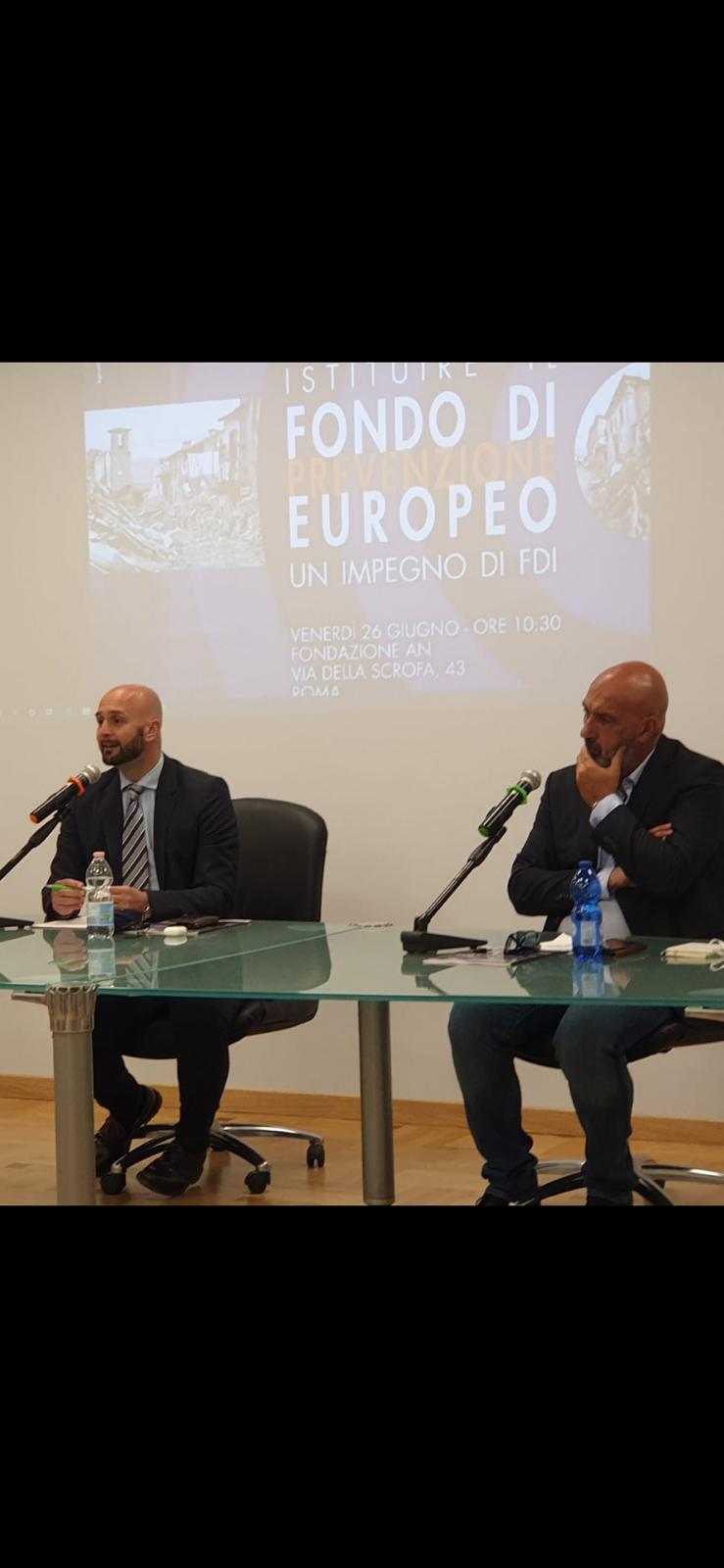UE: PROPOSTA DI FRATELLI D'ITALIA PER UN FONDO PER LA PREVENZIONE DEI DISASTRIAMBIENTALI