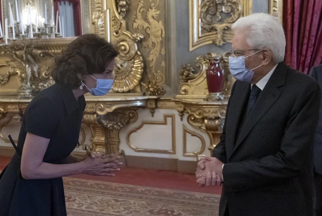 Audrey Azoulay incontraMattarella