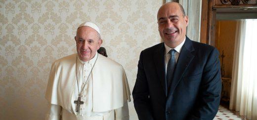 papa_francesco_zingaretti_pd_lazio_lapresse_2020