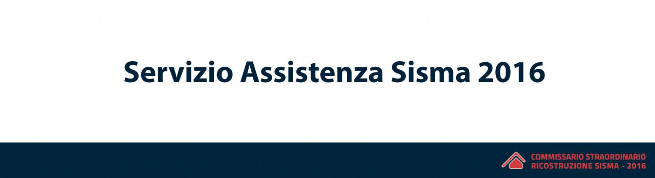 Oggi è stato attivato il nuovo Servizio di Assistenza Sisma 2016 per i professionisti, le imprese, gli enti locali e icittadini.