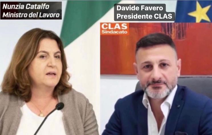 Disciplina degli ammortizzatori sociali: Sindacato CLAS in Video Call con il Ministro Catalfo ed il SottosegretarioPuglisi